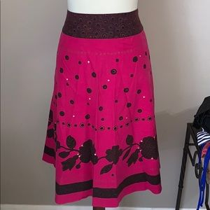 Pink and Brown Skirt * Size 14 * Liz Claiborne